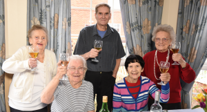 wine evenings at our norfolk care homes